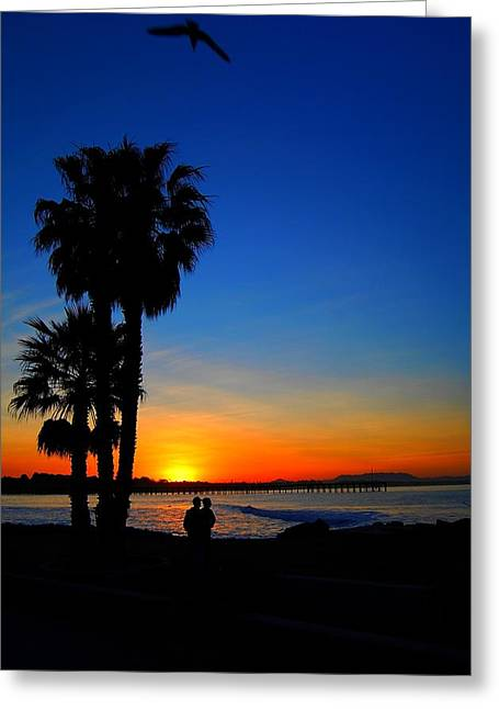Ventura California Greeting Cards - Day Beginnings Greeting Card by Miles Stites