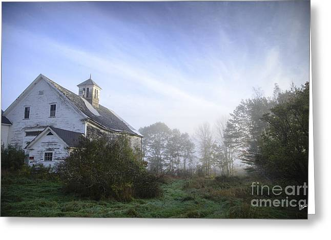 Old Maine Barns Greeting Cards - Day Break at the Farm Greeting Card by Alana Ranney
