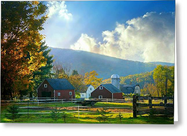 Barn And Silo Greeting Cards - Day Break Greeting Card by Diana Angstadt