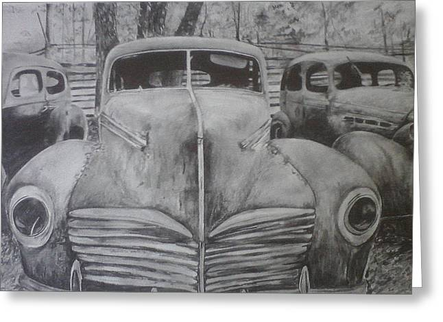 Restoration Drawings Greeting Cards - Forgotten Classics  Greeting Card by Shannon  Savage