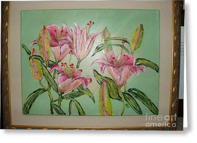 Day Lilly Paintings Greeting Cards - Day Lillies Greeting Card by Kat Beights