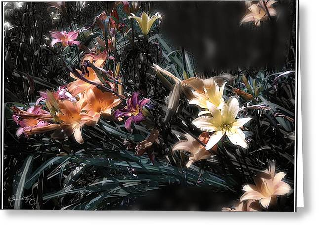 Day Lilly Greeting Cards - Day Lilly Mindscape 203 Greeting Card by Wayne King