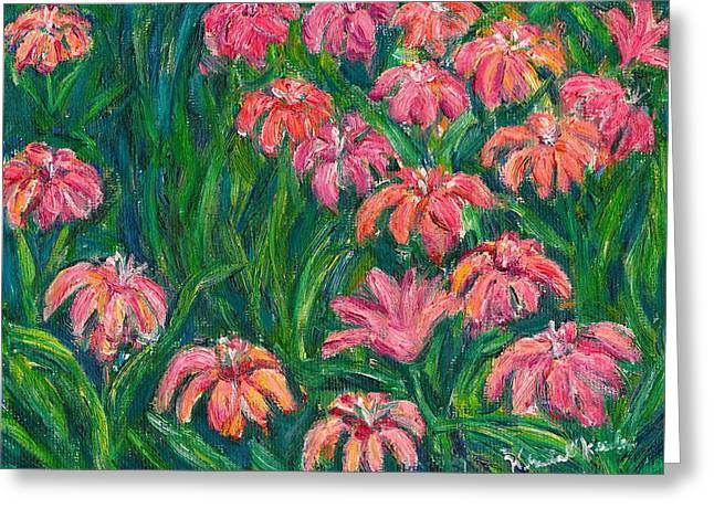 Day Lily Rush Greeting Card by Kendall Kessler