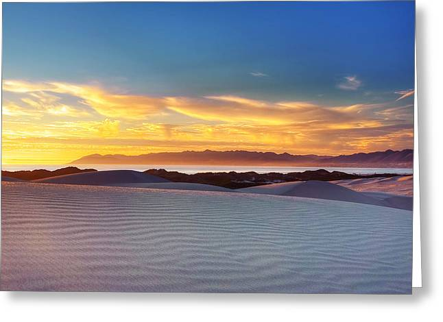California Beach Greeting Cards - Day Meets Night Greeting Card by Aron Kearney Fine Art Photography