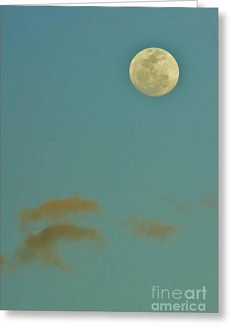 Day Moon Greeting Card by Lynda Dawson-Youngclaus