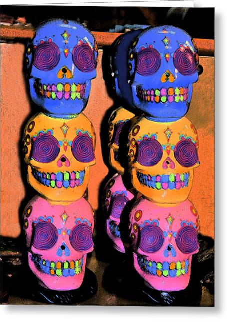 Day Of The Dead Ink Greeting Card by ARTography by Pamela Smale Williams