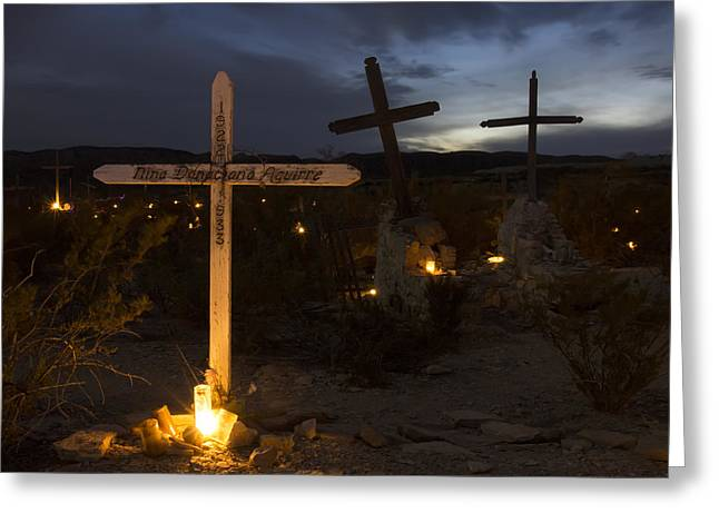 Terlingua Texas Greeting Cards - Day of the Dead Greeting Card by Luc Novovitch