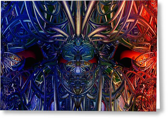 Tion Greeting Cards - Day of the Dead Nitro Fx Greeting Card by G Adam Orosco