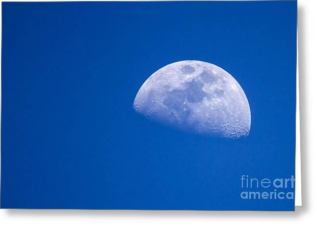 Astronomical Research Greeting Cards - Day time moon  Greeting Card by Eyal Bartov