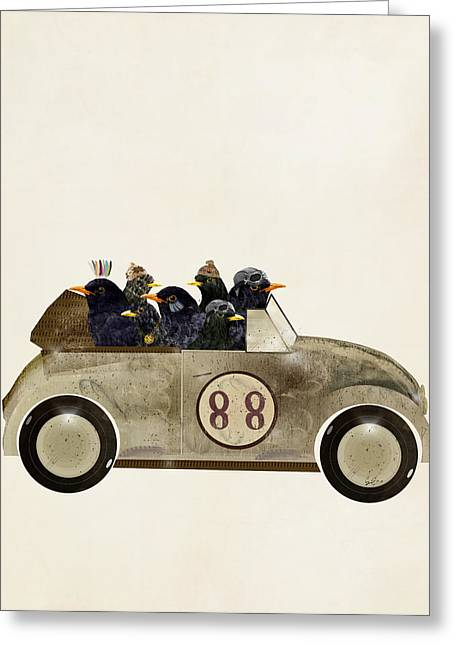 Vw Beetle Greeting Cards - Day Tripping Greeting Card by Bri Buckley