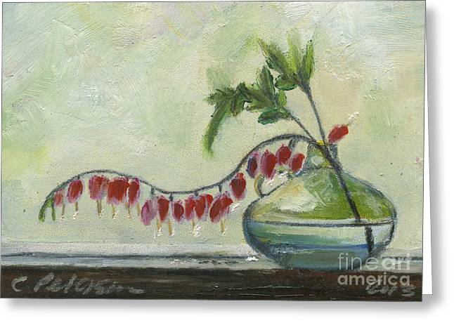 Ventura California Greeting Cards - Day watchers. A clear jar with flowers in a window. Greeting Card by Cathy Peterson