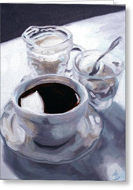 Brushwork Greeting Cards - Daybreak Greeting Card by Alison Schmidt Carson