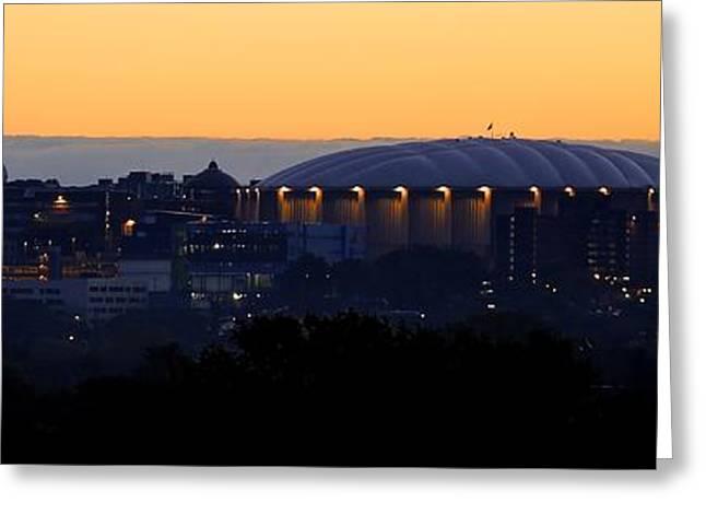 Syracuse Orange Greeting Cards - Daybreak at Syracuse Greeting Card by Steve Ratliff