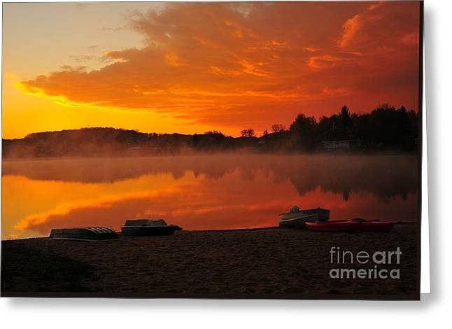 Daybreak At The Beach Greeting Card by Terri Gostola