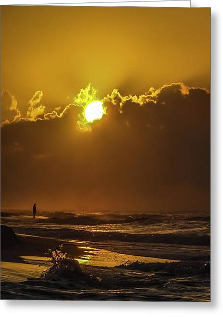 Ocean Art Photography Greeting Cards - Daybreak Greeting Card by CarolLMiller Photography