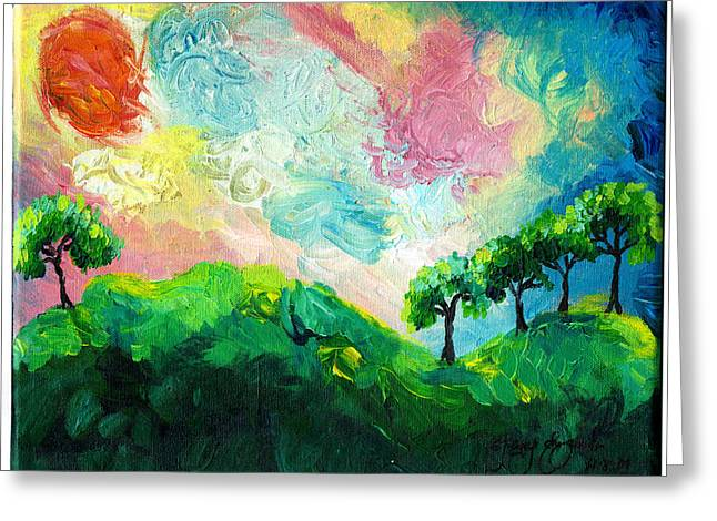 Acylic Greeting Cards - Daybreak in Paradise Greeting Card by Ifeanyi C Oshun