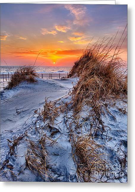 Commercial Photography Greeting Cards - Daybreak on the Outer Banks 3 Greeting Card by Dan Carmichael