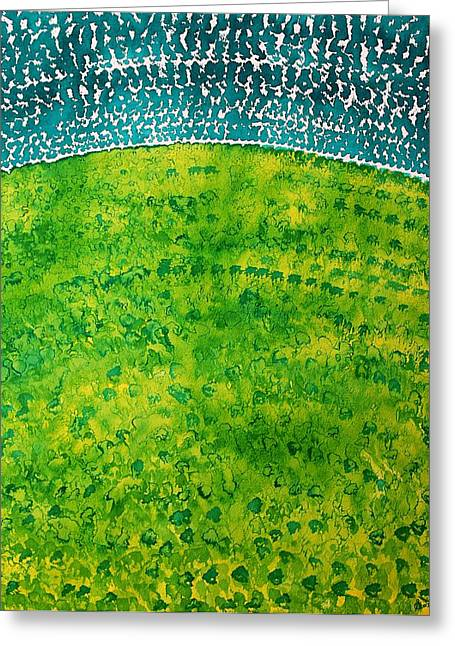 Pen And Paper Greeting Cards - Daybreak original painting Greeting Card by Sol Luckman