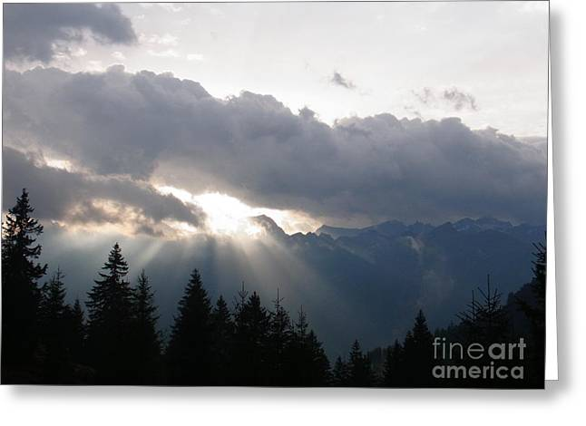Rare Moments Greeting Cards - Daybreak Over Lepontine Alps Greeting Card by Agnieszka Ledwon