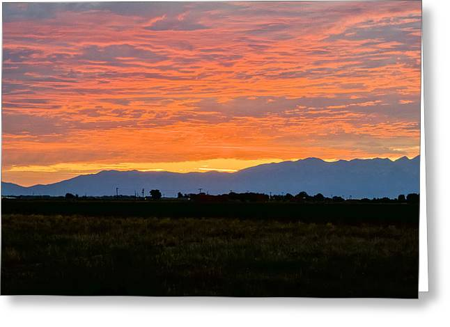 Monte Vista Greeting Cards - Daybreak Greeting Card by Steve Thompson