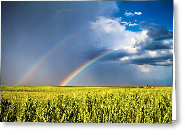 Double Rainbow Greeting Cards - Daydream Greeting Card by Sean Ramsey