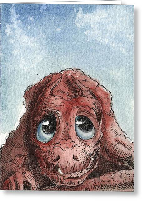 Daydreamer Greeting Card by Sean Seal