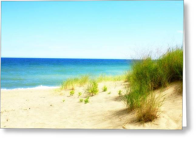 Blue Sky And Sand Greeting Cards - Daydreaming Day Greeting Card by Gothicolors Donna Snyder