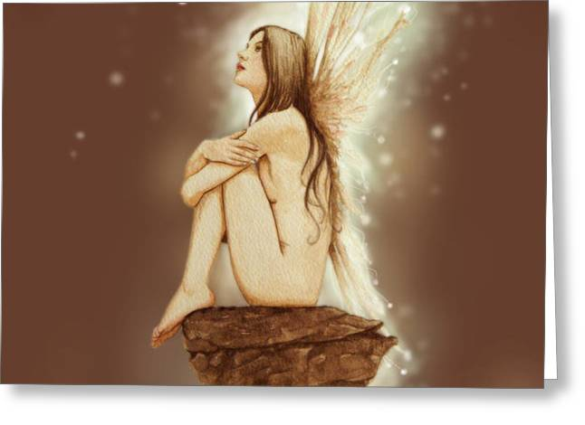 Daydreaming Faerie Greeting Card by John Silver