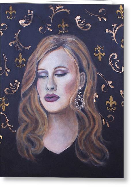 Adele Paintings Greeting Cards - Daydreaming Goddess Greeting Card by The Art With A Heart By Charlotte Phillips