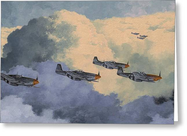Aviation Paintings Greeting Cards - Daydreams Over Cambridgeshire Greeting Card by Wade Meyers