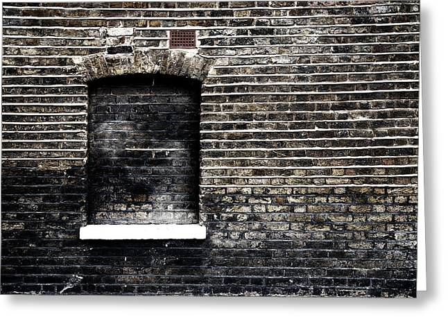 Bricks Greeting Cards - Daylight Robbery Greeting Card by Mark Rogan
