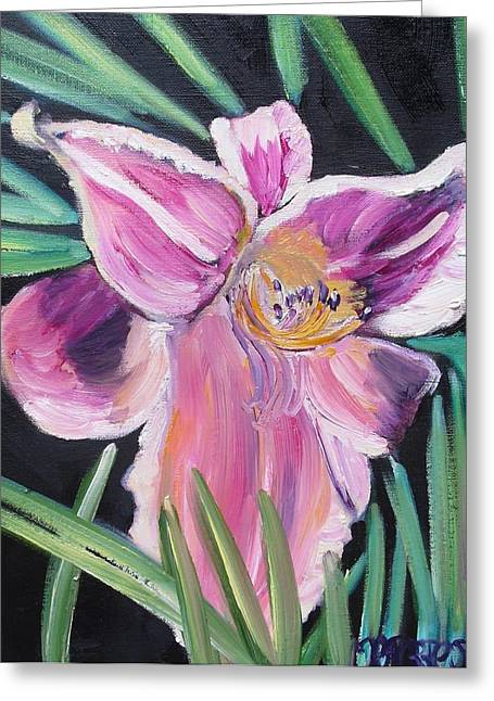 Daylily Greeting Card by Melissa Torres