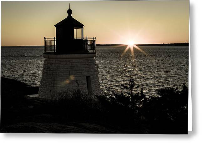 New England Lighthouse Greeting Cards - Days End At Castle Hill Greeting Card by Andrew Pacheco