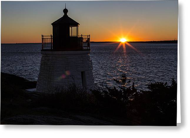 Days End At Castle Hill Full Color Greeting Card by Andrew Pacheco
