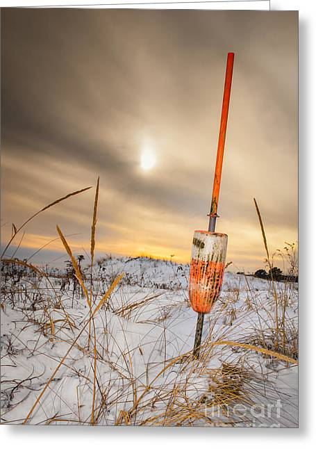 Impending Greeting Cards - Days End at Plum Island Greeting Card by Scott Thorp