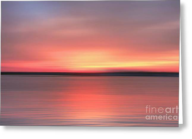 Sunset Abstract Photographs Greeting Cards - Days End Greeting Card by Benanne Stiens