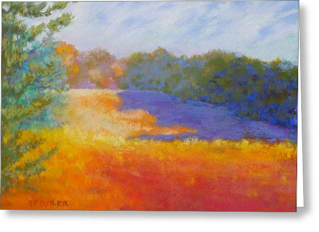 Fall Colors Pastels Greeting Cards - Days End Greeting Card by Bonnie Ferguson Butler