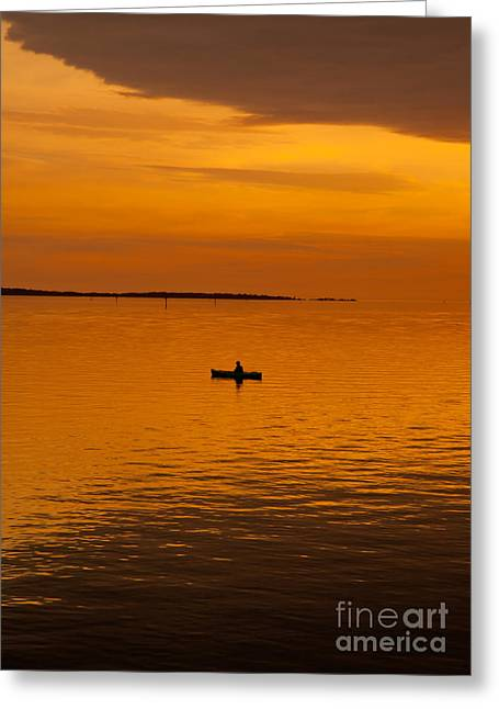 Cedar Key Greeting Cards - Days End - Cedar Key Greeting Card by Kathi Shotwell