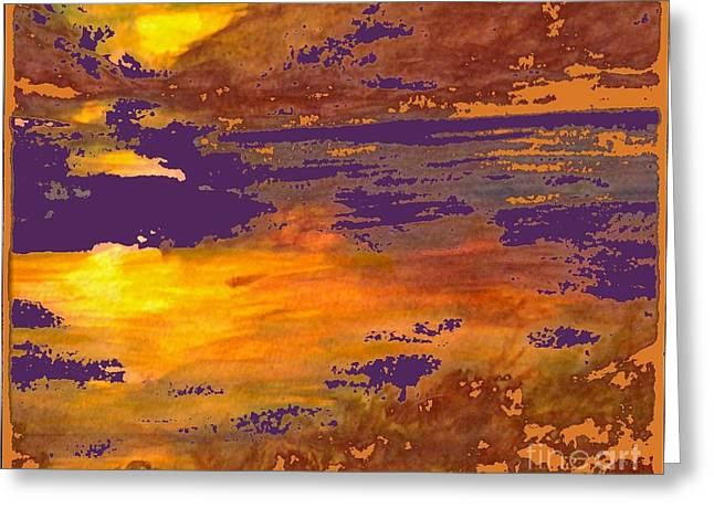 Hawaain Greeting Cards - Days End Greeting Card by Cindy McClung
