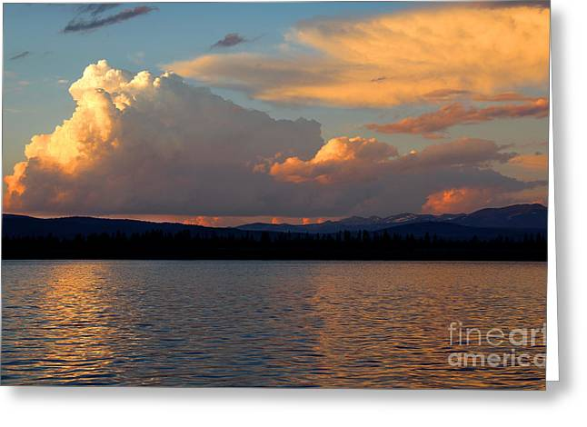 Reflecting Water Greeting Cards - Days End Greeting Card by Jemmy Archer
