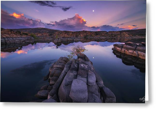 Days End Greeting Card by Peter Coskun