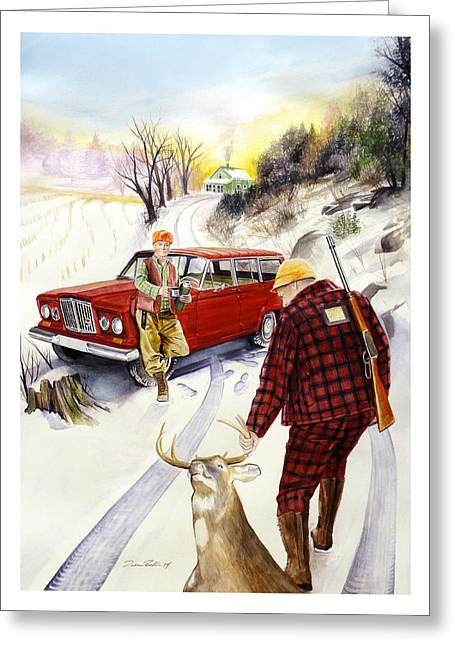 Deer Camp Greeting Cards - Days Gone By Greeting Card by Dana Bellis