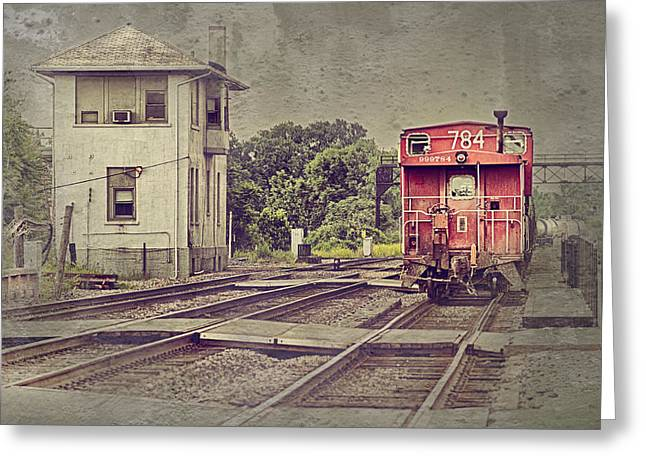 Caboose Greeting Cards - Days Gone By Greeting Card by Donald Schwartz