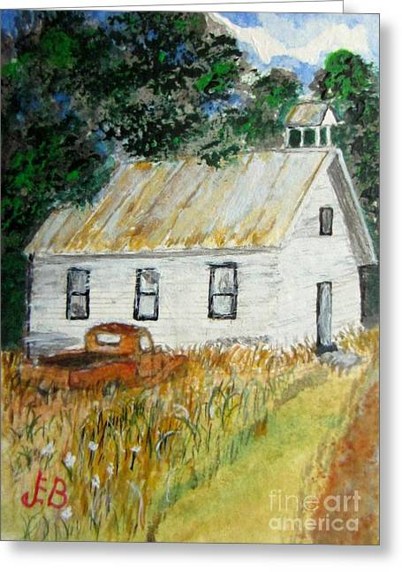 Tin Roof Paintings Greeting Cards - Days Gone By Greeting Card by John Burch