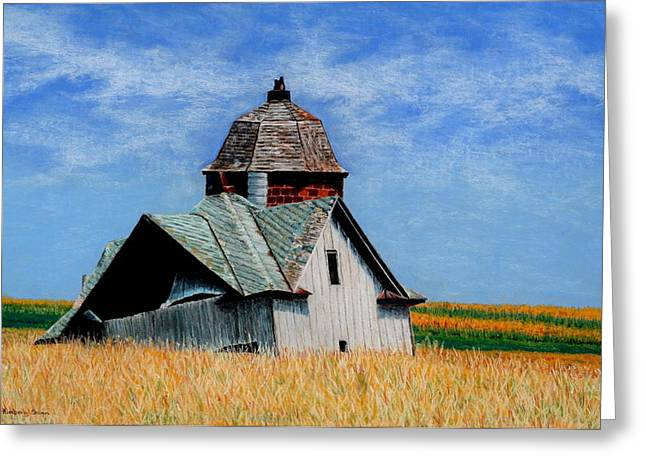 Old Barn Drawing Greeting Cards - Days Gone By Greeting Card by Kimberly Shinn