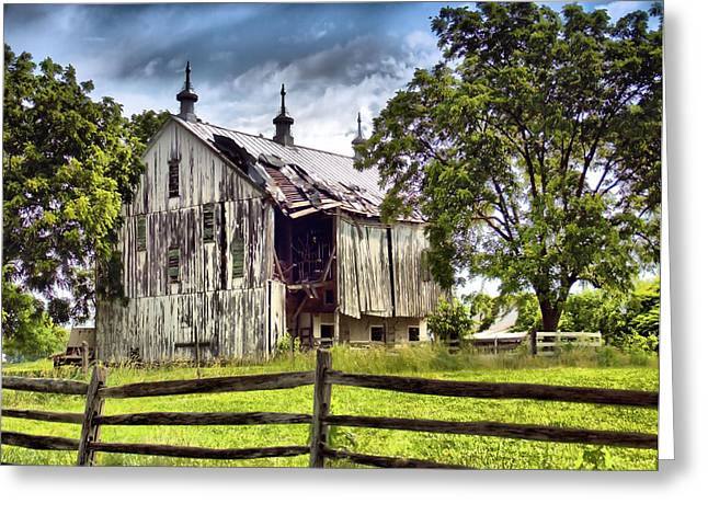Old Barns Greeting Cards - Days Gone By Greeting Card by Michael Pinette