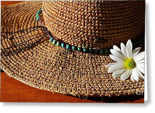 Wide Brim Hat Greeting Cards - Days Gone By Greeting Card by Pamela Blizzard