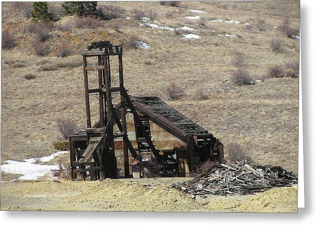 Mining Photos Greeting Cards - Days Gone By Greeting Card by Steven Parker