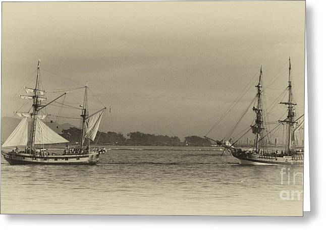 Lady Washington Greeting Cards - Days gone by..... Greeting Card by Tim Hauf