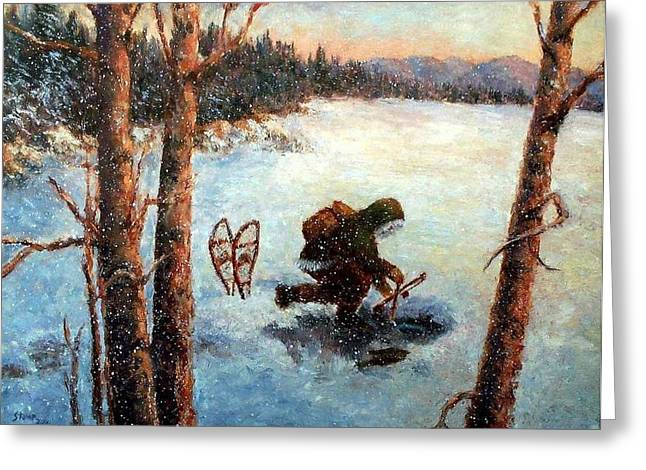 Phillip Goodwin Paintings Greeting Cards - Days Last Catch Greeting Card by Robert Stump